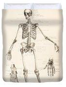The Human Skeleton Duvet Cover