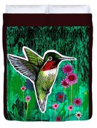 The Hummingbird Duvet Cover by Genevieve Esson