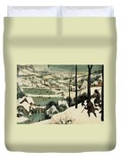 The Hunters In The Snow Duvet Cover