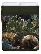 The Huntington Desert Garden Duvet Cover by Rona Black