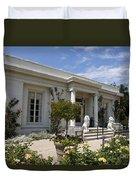The Huntington Library Rose Garden Tea House Duvet Cover
