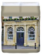 The Huntsman Pub In Bath 8456 Duvet Cover