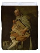 The Hurdy Gurdy Player Duvet Cover