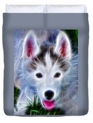 The Huskie Pup Duvet Cover by Bill Cannon