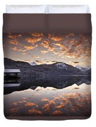 The Hut By The Lake Duvet Cover