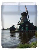 The Iconic Windmills Of  Holland  Duvet Cover
