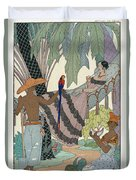 The Idle Beauty Duvet Cover by Georges Barbier