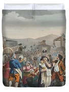 The Idle Prentice Executed At Tyburn Duvet Cover