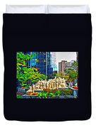The Illuminated Crowd Of Montreal Duvet Cover