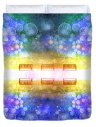 The Illusion Benches Duvet Cover