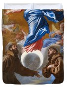The Immaculate Conception With Saints Francis Of Assisi And Anthony Of Padua Duvet Cover