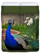 The Indian Peafowl Duvet Cover