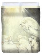 The Infant Jesus Saying His Prayers Duvet Cover