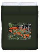 The Inspiration Of Orange Poppies Duvet Cover