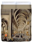 The Interior Of A Gothic Church Duvet Cover by Hendrik the Younger Steenwyck