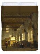 The Interior Of The Bakenesserkerk. Haarlem Duvet Cover