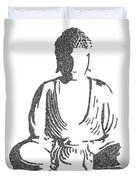 The Intricacies Of The Meditating Buddha Duvet Cover