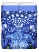 The Invention Of Duality Duvet Cover