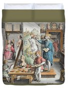 The Invention Of Oil Paint, Plate 15 Duvet Cover