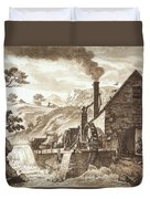The Iron Forge Between Dolgelli Duvet Cover