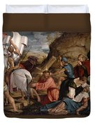 The Journey To Calvary, C.1540 Duvet Cover