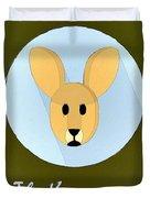 The Kangaroo Cute Portrait Duvet Cover