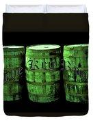 The Keg Room 3 Green Barrels Old English Hunter Green Duvet Cover