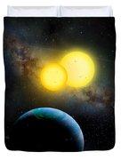 The Kepler 35 System Duvet Cover