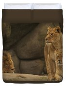 The King And His Queens Duvet Cover