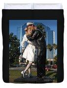 The Kiss - Sailor And Nurse - Sarasota  Duvet Cover