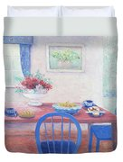 The Kitchen Table Laid For Lunch Duvet Cover