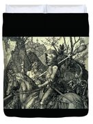 The Knight, Death And The Devil Duvet Cover