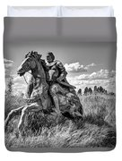 The Knight Goes Forth Duvet Cover by Daniel Hagerman