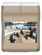 The Kunta Kinte-alex Haley Memorial In Annapolis Duvet Cover
