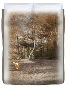 The Labradoodle On The Go Duvet Cover