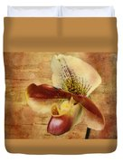 The Lady Slipper Orchid Duvet Cover