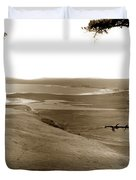 The Lagoon At The Mouth Of The Carmel River  From Fish Ranch California 1905 Duvet Cover