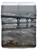The Lake Champlain Bridge From Cown Point Duvet Cover