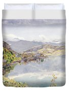 The Lake Of Lucerne, Mount Pilatus Duvet Cover