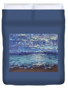 The Lake On A Cloudy Day In October Duvet Cover