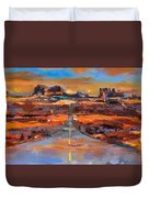 The Land Of Rock Towers Duvet Cover by Elise Palmigiani