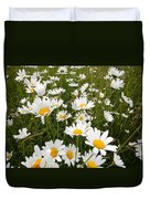 The Land Of White Daisies Duvet Cover