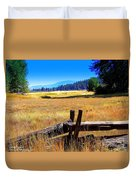 The Land With A View Duvet Cover