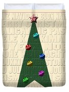 The Language Of Christmas Duvet Cover