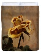 The Last Autumn Rose Before The First Snow Duvet Cover