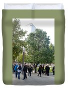 The Last Living Thing Pulled From The Rubble... The Survivor Tree Duvet Cover