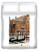 The Last Pigeon In Venice Duvet Cover