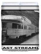 The Last Streamliner Poster Duvet Cover