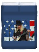 The Late Great Johnny Winter Duvet Cover