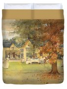 The Lawn Tennis Party Duvet Cover by Arthur Melville